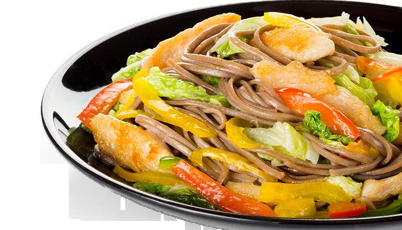 блюдо в красивой черной тарелке