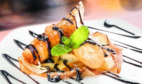 необычный десерт сладкий- спринг ролл