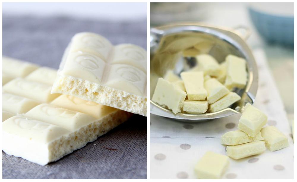 основной ингредиент- белый шоколад