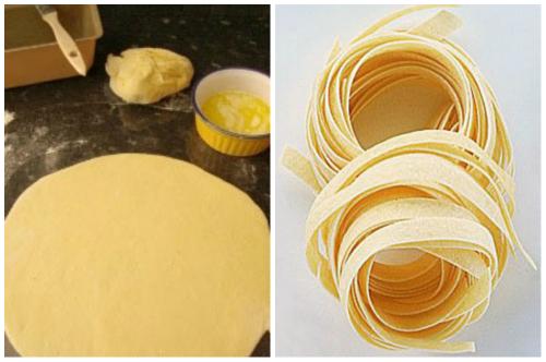 тесто и макаронина
