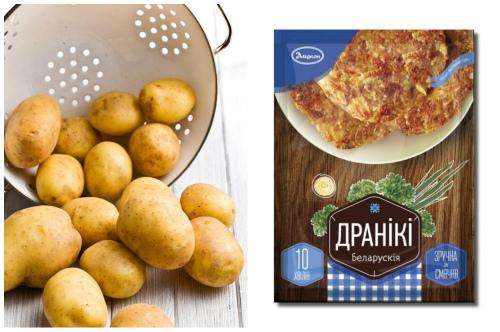 картофельные клубни и приправа