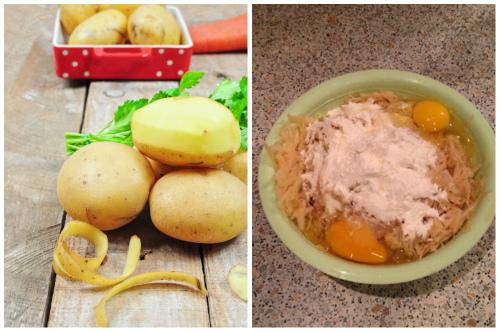 натертая картошка