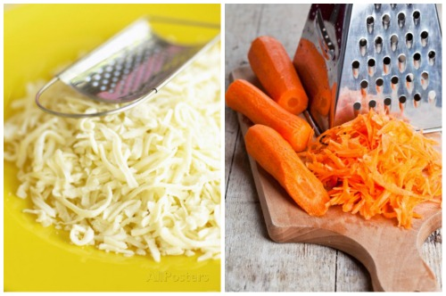 тертый сыр и морковка