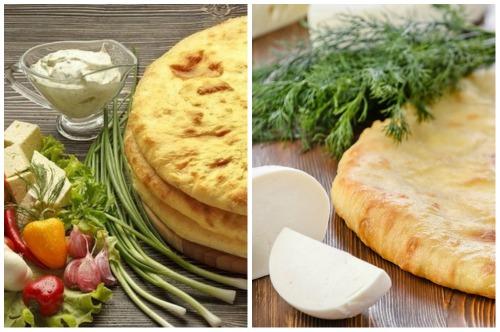 аппетитные лепешки с сыром и зеленью