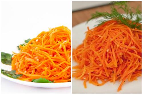 морковка на тарелках