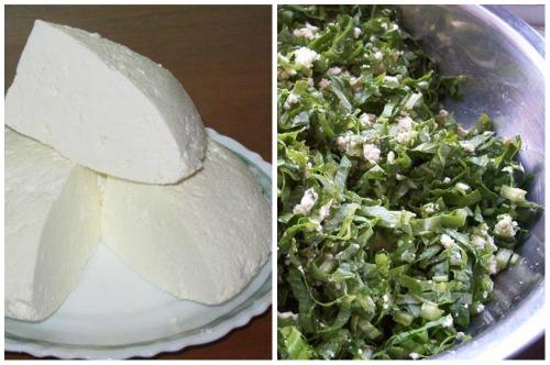 начинка из сыра и зелени