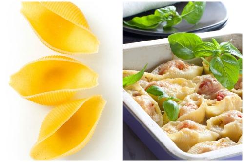 аппетитное блюдо с макаронами ракушками