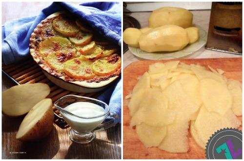 ломтики картошки и готовое блюдо