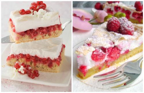 десерт с клюквой и малиной