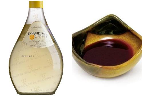 белое вино и соевый соус
