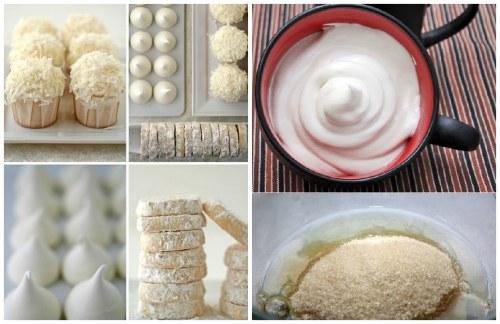 пирожные из белковой массы
