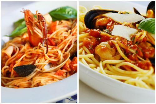 рецепт с дарами моря и томатами