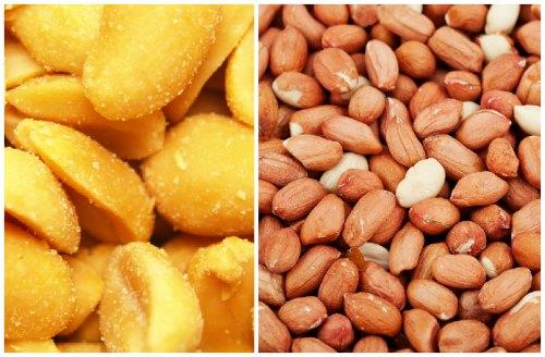 свежие и приготовленные орехи