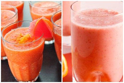 морковь, черника и грейпфрут