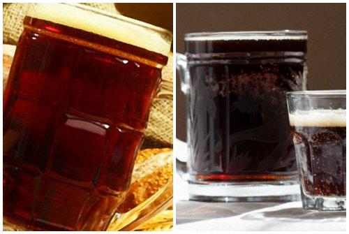 насыщенный цвет солодового питья