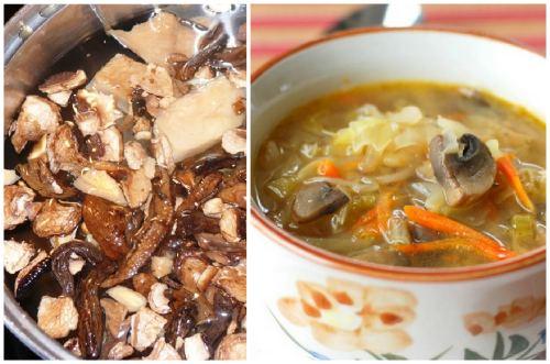 русское блюдо с грибами