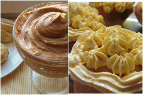 готовое десертное блюдо и украшение