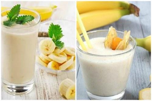 классический банановый коктейль