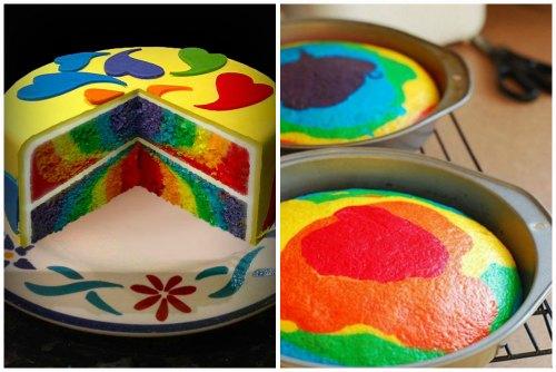 Радужный пирог