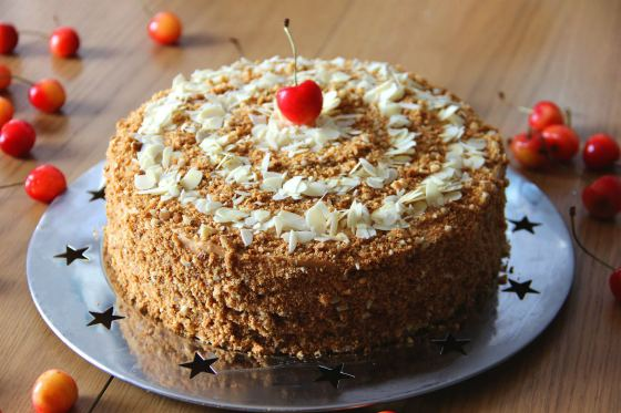Медовый тортик со сгущенкой