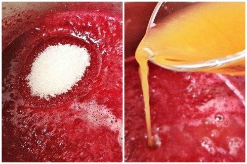 Добавляем сахар и апельсиновый сок