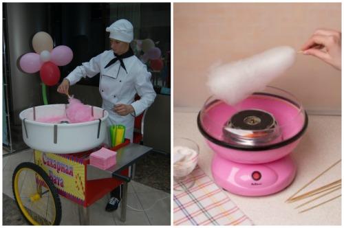 Профессиональная и домашняя машинка для сладкой ваты