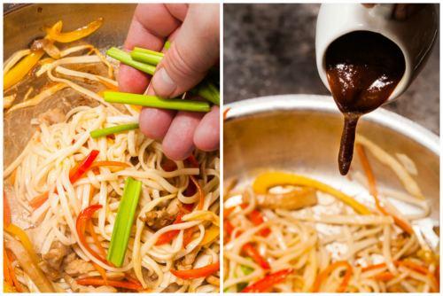 Ростки сои и устричный соус