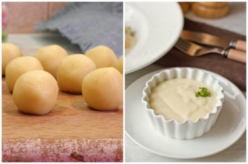 Шарики из пасты бер-манье и соус на ее основе