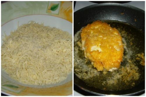 Тертый сырок и готовка на сковродочке