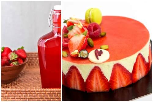 клубничный сироп для тортика