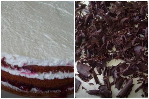 Собранный десерт и украшение