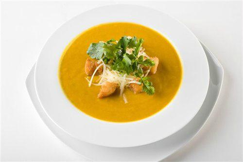 Велюровый суп-пюре из тыквы