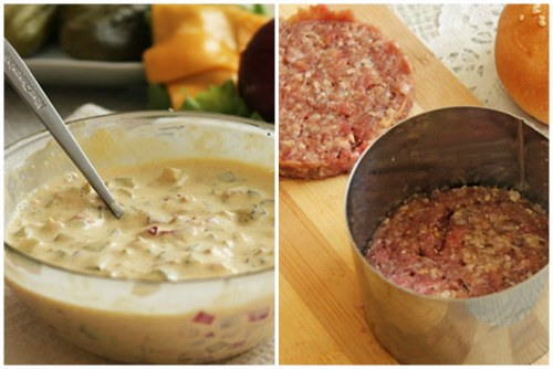 Готовый соус и приготовление котлеток