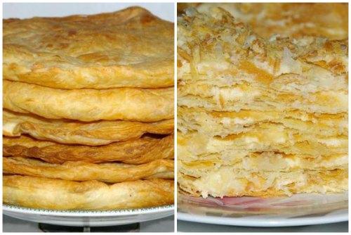 Коржи и готовый десерт