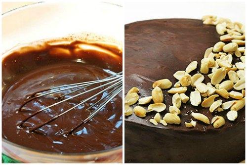 Шоколадный ганаш и орешки