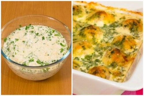 Сливочный соус и готовое блюдо