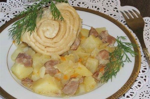 Strudel с мясом и картошечкой