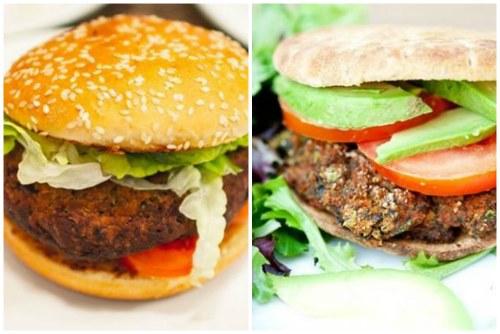 Вегетарианский бургер с фасолевой котлеткой