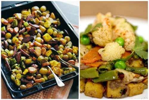 множество овощей