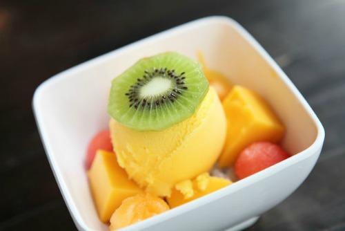 Бананово-абрикосовое мороженое