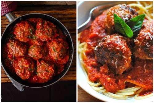 Подача в сковороде и со спагетти