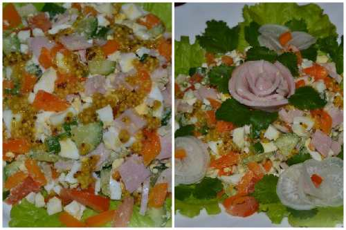 Украшение салатика