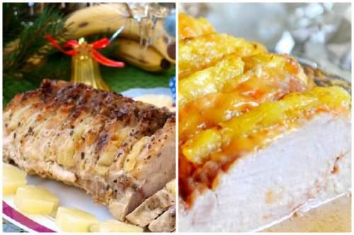 Сочетание мяса с ананасами