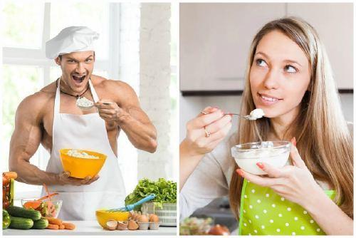 пища для мужчин и женщин