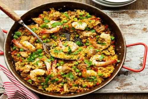 Рецепт с морепродуктами