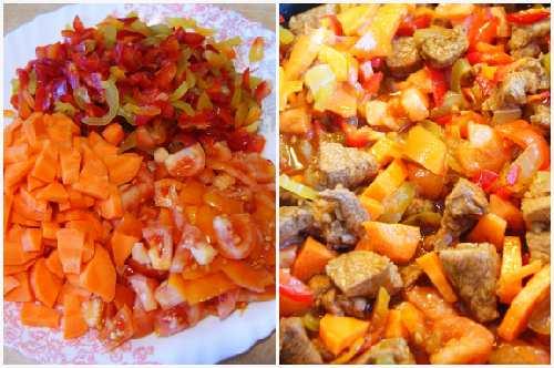 морковь, перец. помидоры