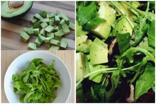 из руколы и авокадо