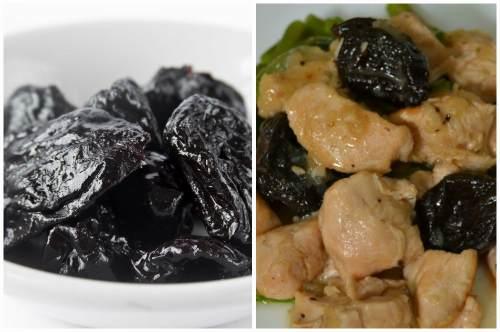 Сочетание мяса и сухофрукта