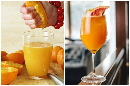 с апельсиновым соком
