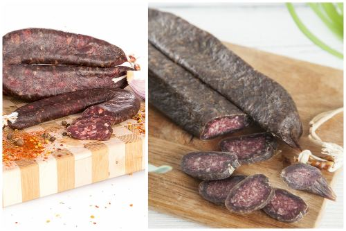 спрессованное сыровяленое мясо